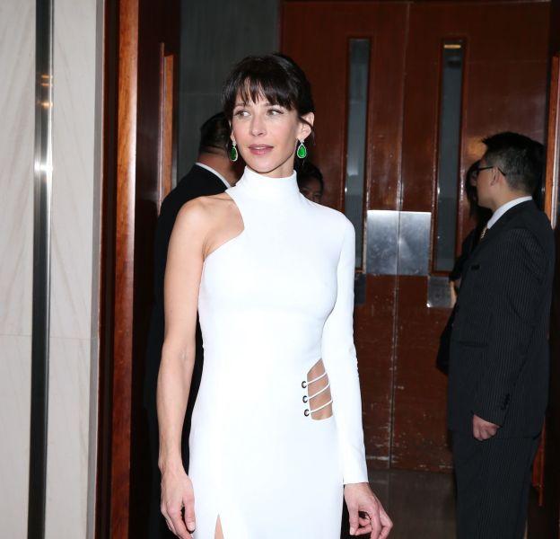 Sophie Marceau terriblement sexy lors d'un dîner privé à Hong Kong le 22 mars 2016.