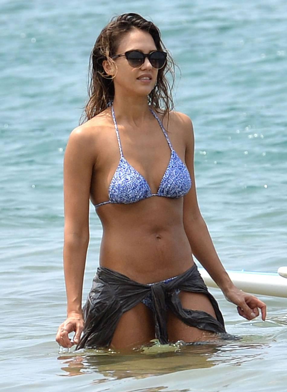 Jessica Alba en vacances à Hawaï.