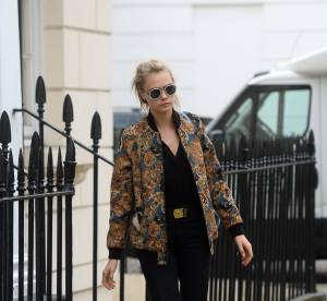 Cara Delevingne, audacieuse : un look rock et déjanté qui détonne à Londres
