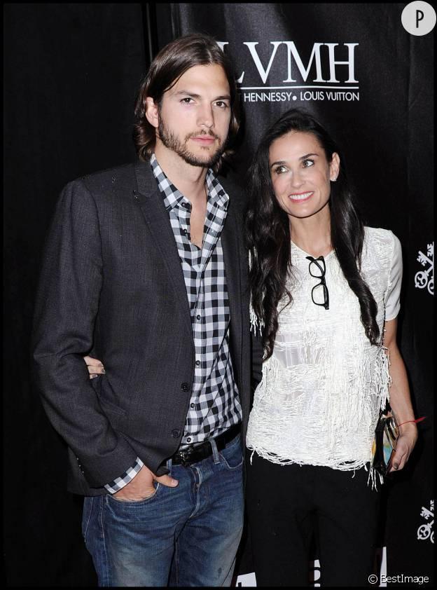 Ashton Kutcher et Demi Moore en 2011.