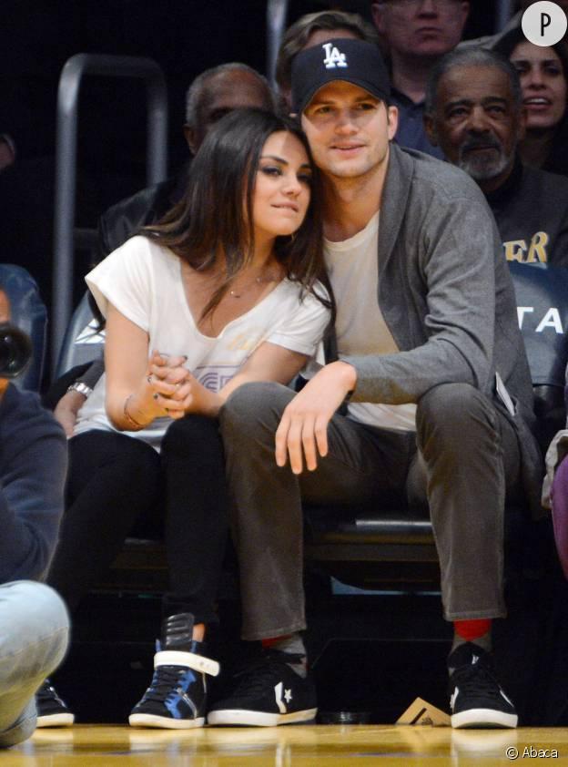 Ashton Kutcher et la femme de sa vie, Mila Kunis.