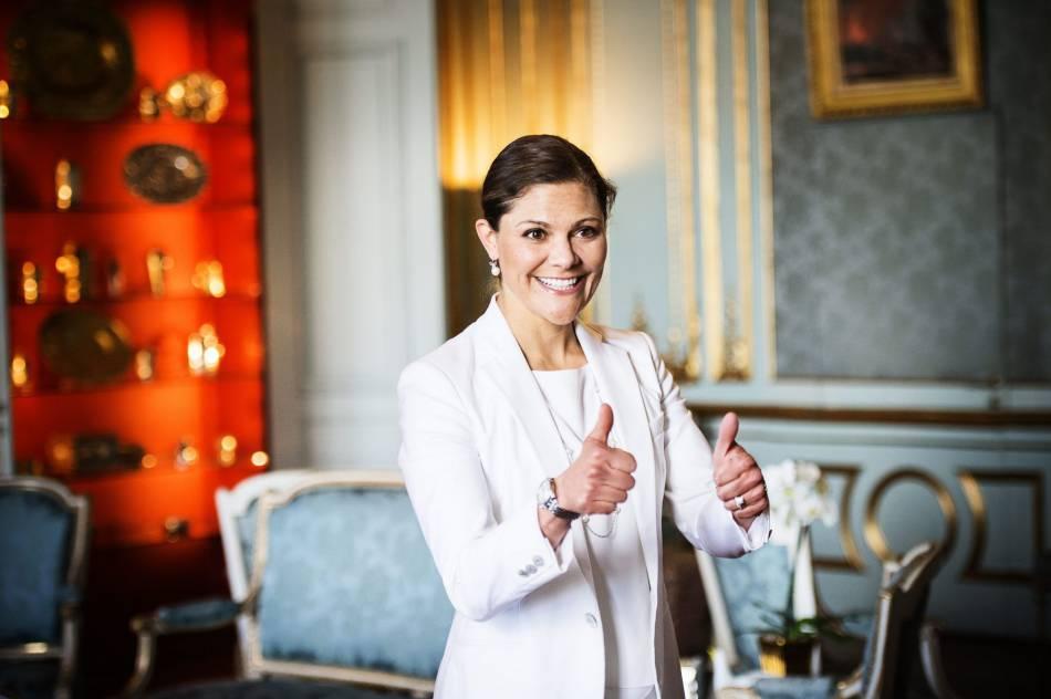 Victoria de Suède est une maman épanouie.