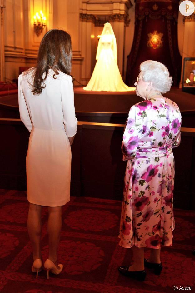 Kate Middleton et la reine Elizabeth II.