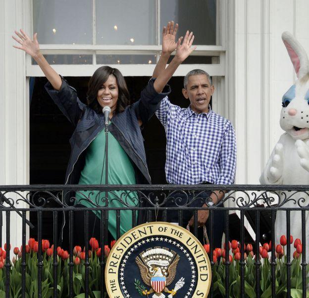 Barack et Michelle Obama ouvre les portes de la Maison Blanche à l'occasion de Pâques.