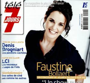 Faustine Bollaert fait la couverture de Télé 7 Jours.