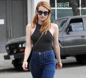 Emma Roberts : stylée et casual, elle prouve une nouvelle fois son sens pointilleux pour la mode.