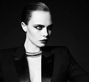 """Cara Delevingne, égérie Saint Laurent : un """"Black Swan"""" chic et choc"""