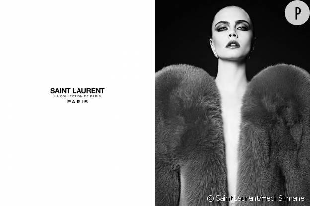 Cara Delevingne fait son retour avec Saint Laurent.