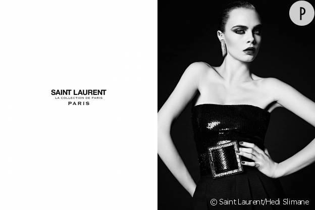 Cara Delevingne pour Saint Laurent.