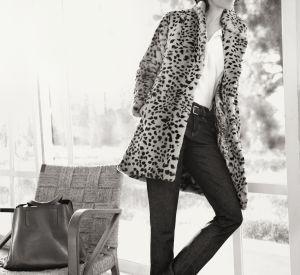 Ce manteau léopard Gérard Darel sied parfaitement à la frenchy.