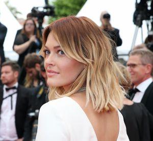 Caroline Receveur : sexy dans sa robe nude à Saint-Tropez