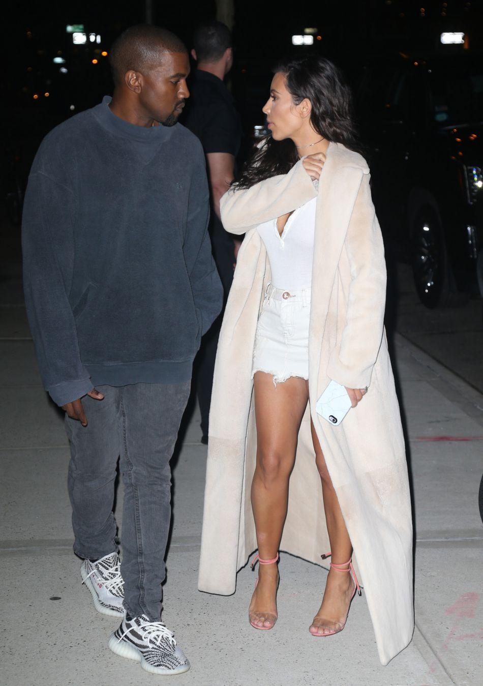 Kim Kardashian et Kanye West sortent en amoureux le 29 août 2016.