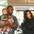 Kanye West et Kim Kardashian à New York en famille le 29 août 2016.