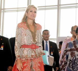 Maxima des Pays-Bas est venue à Jakarta en tant qu'ambassadrice des Nations Unies pour le développement.