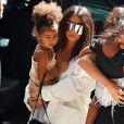 La star de télé-réalité Kim Kardashian et sa fille North, à New York