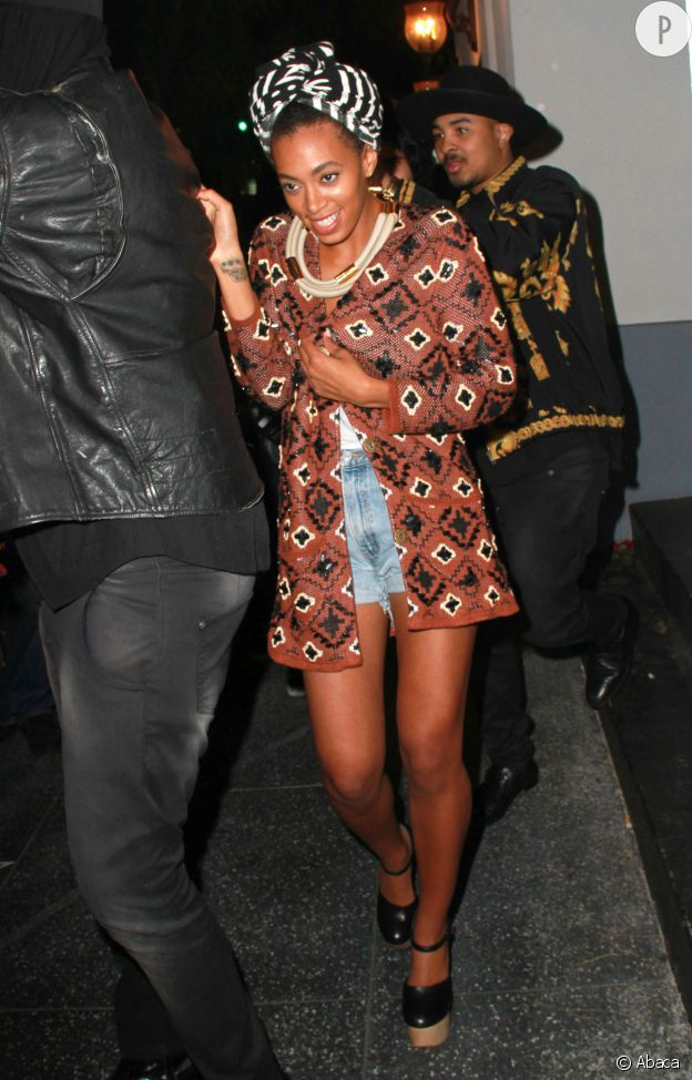 Solange Knowles, lors d'une apparition au Lexington Social House.