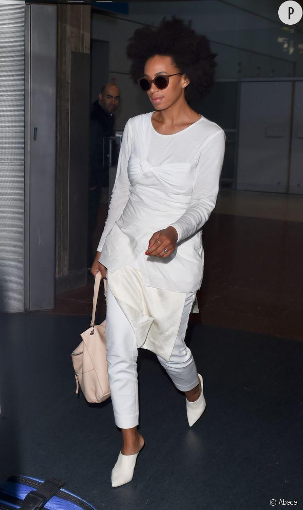 Solange Knowles à l'aéroport de New York.