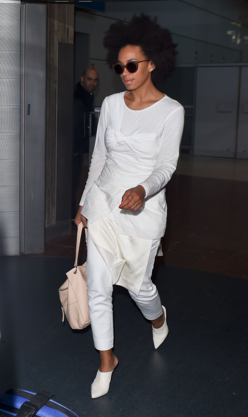 Solange Knowles à l'aéroport de New York.