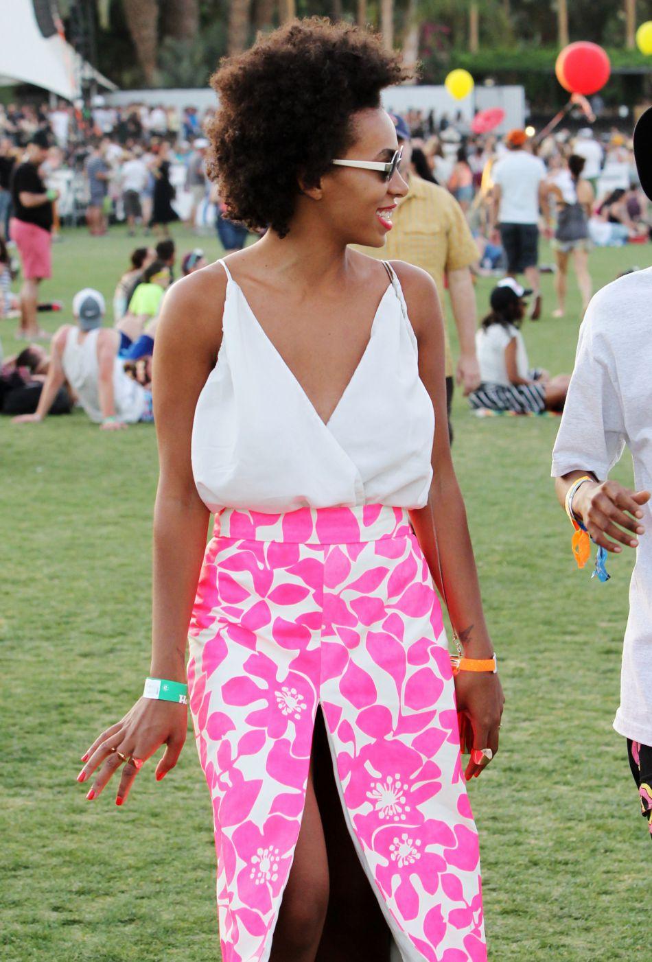 Solange Knowles au festival de Coachella.