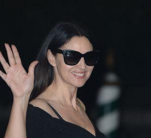 Dans la région de Venise pour un tournage, Monica Bellucci s'est arrêtée à la Mostra.