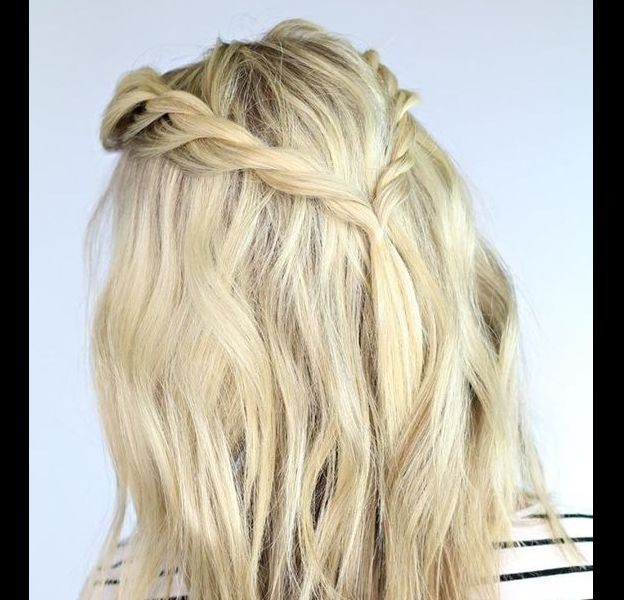 3 coiffures pour cheveux mi-longs pour l'été.
