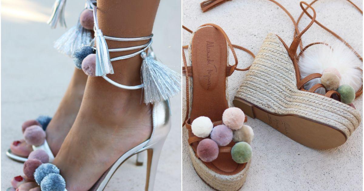 Sandales Pompons 7 Fa Ons Chicissimes De Les Porter Cet T