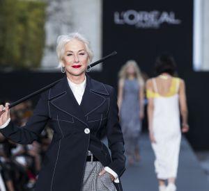 Helen Mirren lors du défilé L'Oréal Paris.