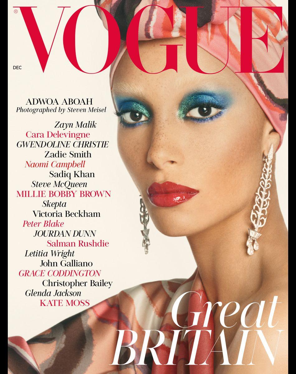 Couverture du British Vogue, décembre 2017.