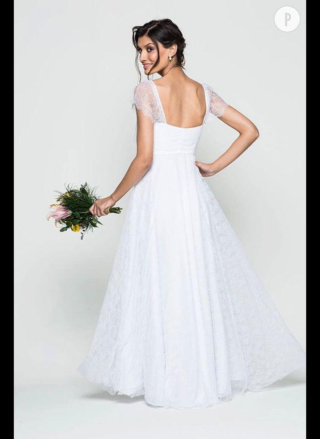 026167ac6a3 Pas toujours simple de bien porter la robe de mariée bustier. Ici
