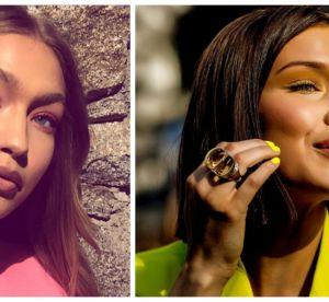 Bella Hadid en jaune, Gigi Hadid en rose : le make up neon, tendance de l'été ?