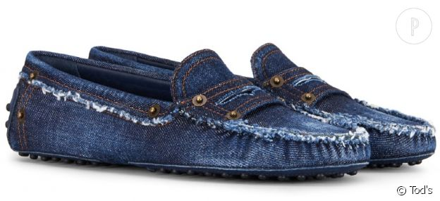 Mocassin Gommino en denim - Tod's