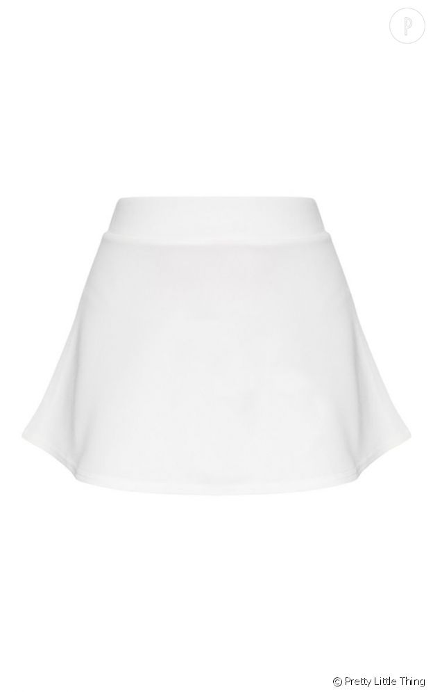 Mini jupe blanche en néoprène Pretty Little Thing 15€