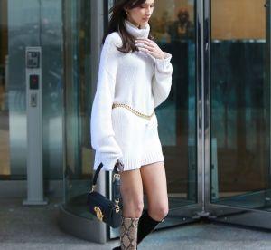 Bella Hadid va-t-elle relancer la robe pull cet hiver ?