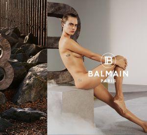 Cara Delevingne entièrement nue pour Balmain