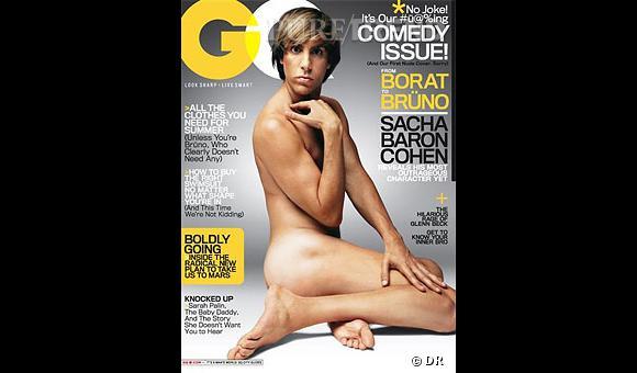 Couverture de GQ avec Sacha Baron Cohen