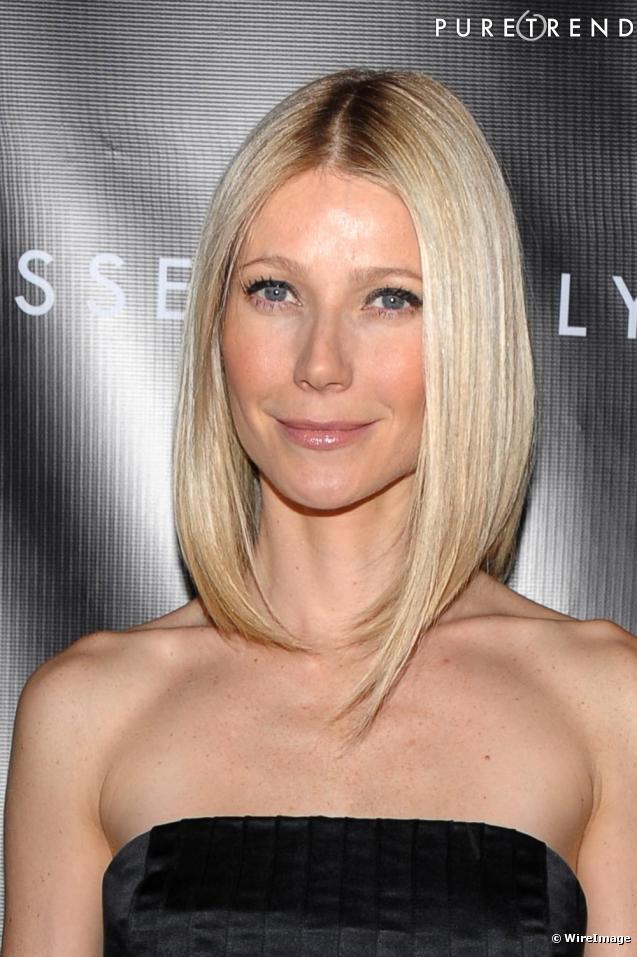 le carr plongeant de gwyneth une coiffure qui marque une nouvelle re chez miss paltrow l 39 re. Black Bedroom Furniture Sets. Home Design Ideas