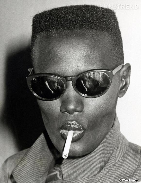 Balai brosse et silhouette androgyne grace jones la diva - Coupe a la brosse homme ...