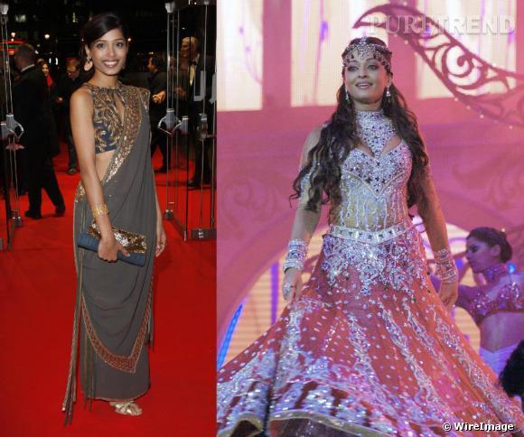 [people=2447]Freida Pinto[/people] /[people=2463]Aishwarya Rai[/people] en sari