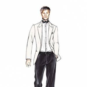 Croquis de [people=2141]Giorgio Armani[/people] pour Brad Pitt dans Inglourious Basterds, paru sur le Women's Wear Daily.