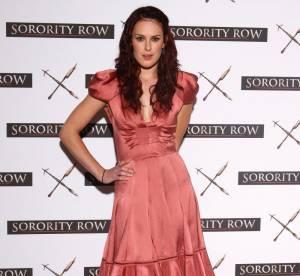Rumer Willis, jeune fille modèle en robe rose