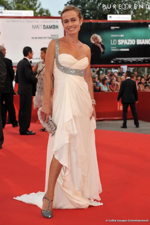 Sandrine Bonnaire : une dame blanche à Venise