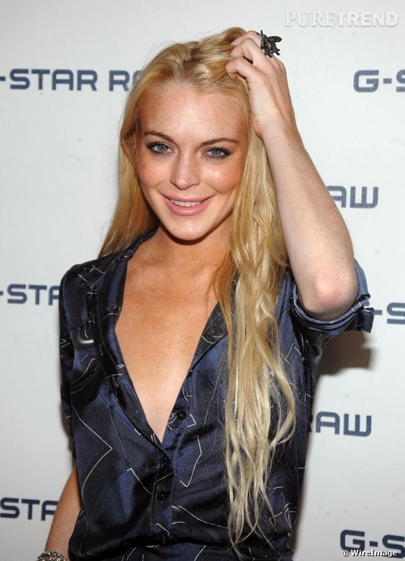 Lindsay Lohan au défilé G-Star pendant la Fashion Week de New-York