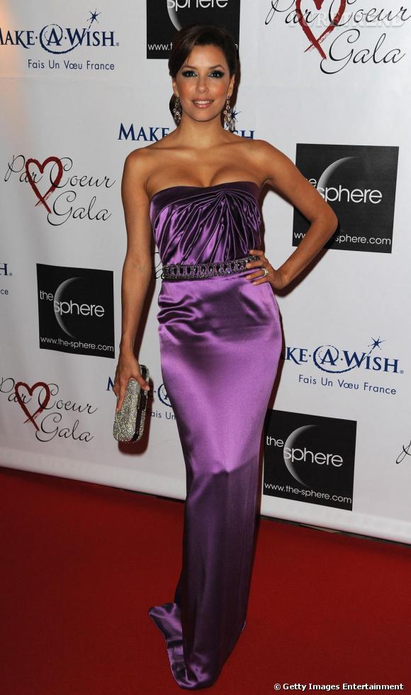 Eva Longoria à l'hôtel Meurice pour le gala annuel Par coeur qu'elle organise avec Tony Parker
