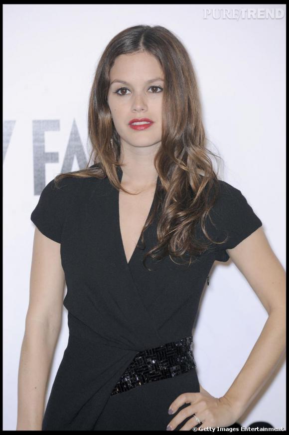 Rachel Bilson , qui assistait cette année à sa première fashion week de Milan était aussi de la partie, en robe noire  Salvatore Ferragamo .