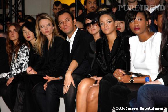 Premier rang de luxe chez Givenchy: Joana Preiss, Maggie Cheung, Delphine Arnault et Rihanna.