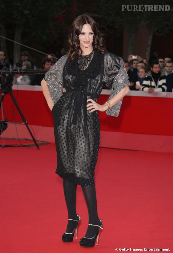 Asia Argento sur le tapis rouge du 4e Festival de Rome