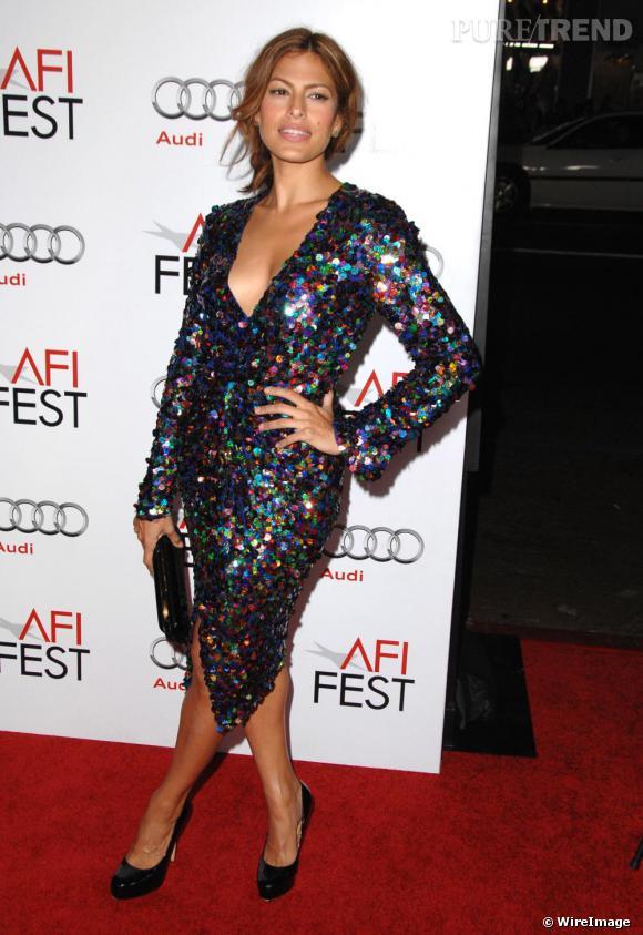 Eva Mendès lors de la projection de Bad Lieutenant à Hollywood
