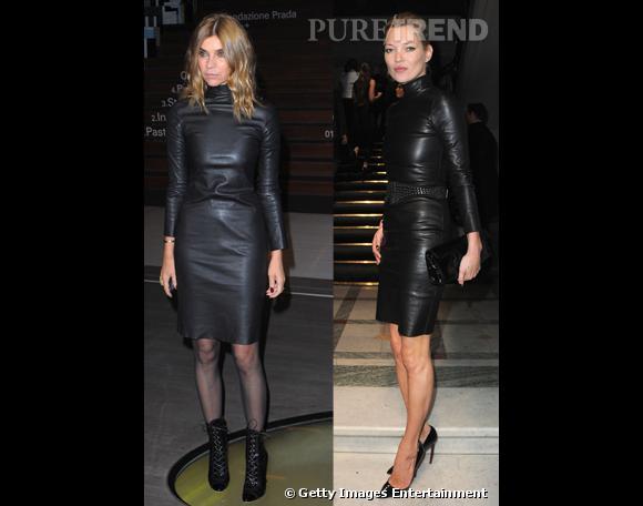 Kate Moss ou Carine Roitfeld : qui porte le mieux la robe en cuir ?