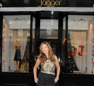 Jade Jagger éclatante pour l'ouverture de son magasin