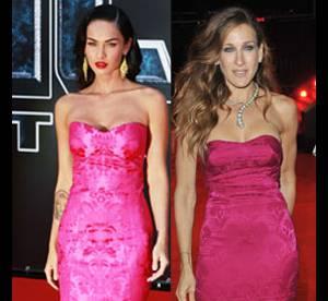 Megan Fox Vs Sarah Jessica Parker : qui porte le mieux la robe bustier rose ?
